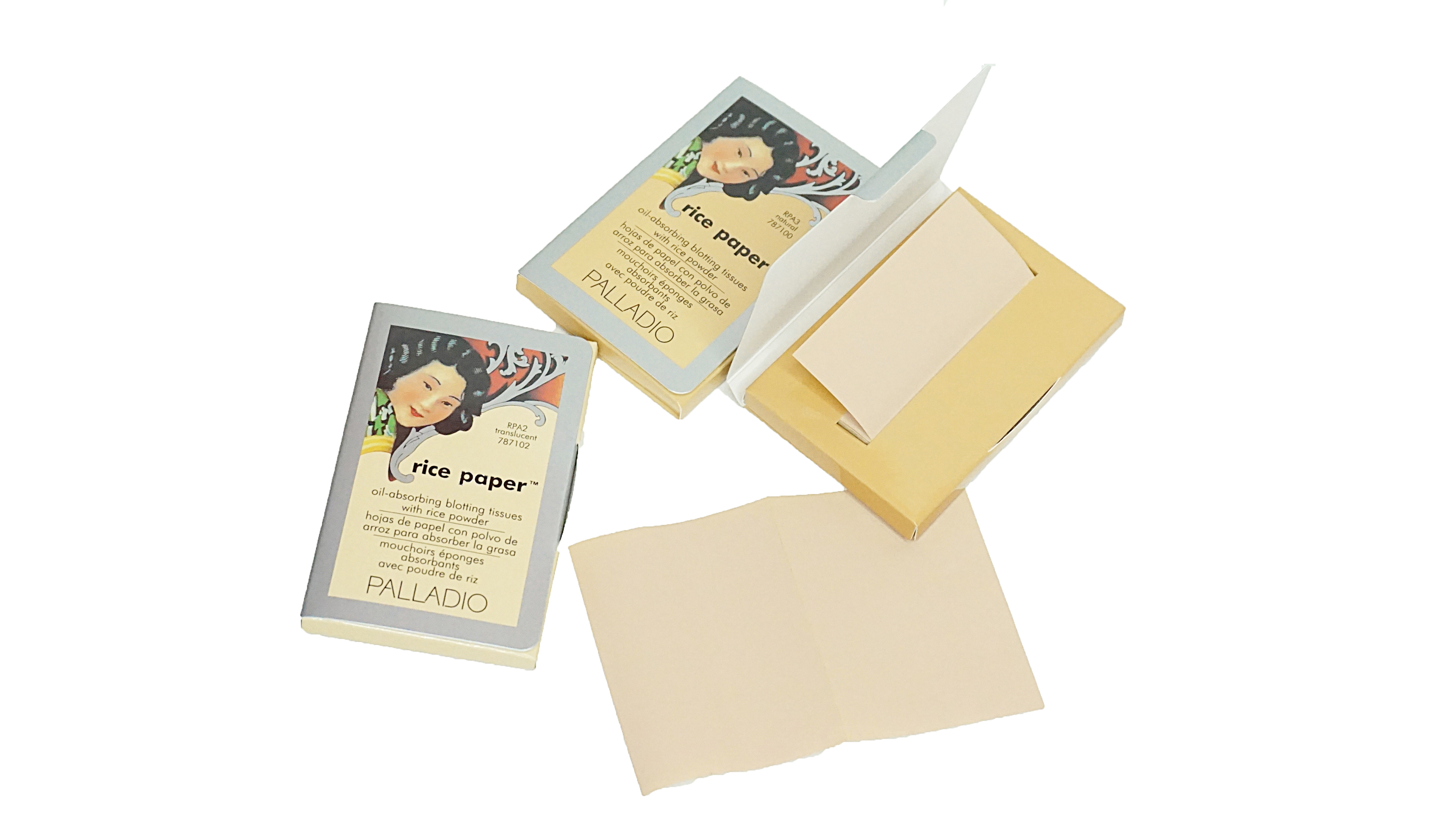Palladio Rice Paper Powdered Blotting Tissues