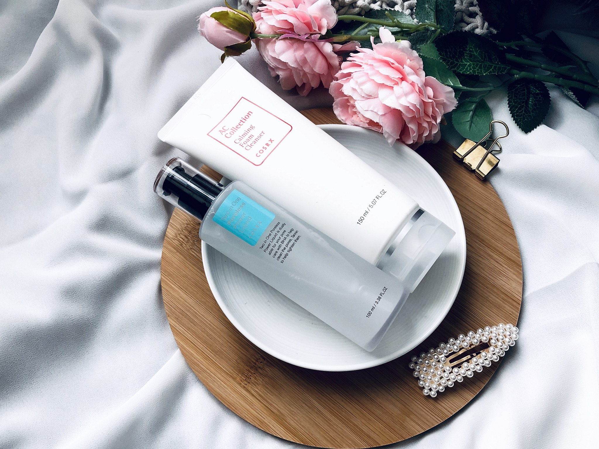 Cosrx Two in One Poreless Power Liquid & Calming Foam Cleanser